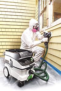 Removing old paint from home exterior