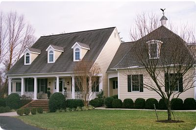 Exterior of single family home painted siding and trim