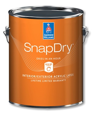 Sherwin Williams product SnapDry